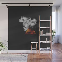 Triangle of Fire & Smoke Wall Mural