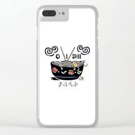 OISHII Noodle Bowl Clear iPhone Case
