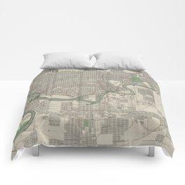 Vintage Map of Edmonton Canada (1912) Comforters