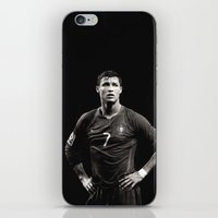 ronaldo iPhone & iPod Skins featuring Cristiano Ronaldo by Sport_Designs