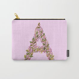 Leafy Letter A Carry-All Pouch