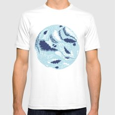 Globe MEDIUM White Mens Fitted Tee