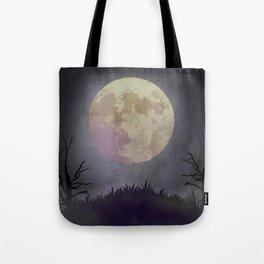 Spooky Night Halloween Backdrop Tote Bag