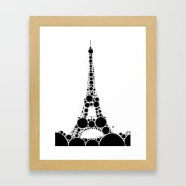 """Eiffel Tower White Background - from """"Further Back"""" series Framed Art Print"""