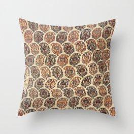 Kashkuli  Antique Fars Persian Tribal Rug Throw Pillow
