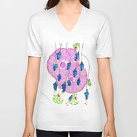 hibiscus V-neck T-shirts featuring Hibiscus by Gosia&Helena