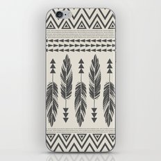 Tribal Feathers-Black & Cream iPhone & iPod Skin