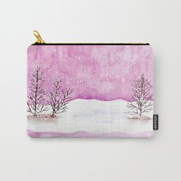 Winter Watercolor Painting Carry-All Pouch