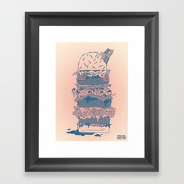 Mighty Burger Framed Art Print