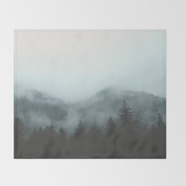 A Walk in the Forest Throw Blanket