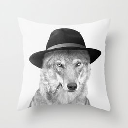 WOODY HUTSON Throw Pillow