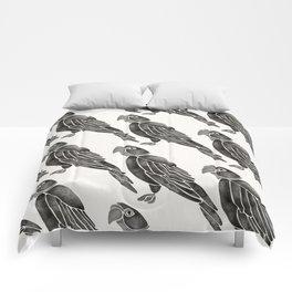 Perched Parrot – Black Palette Comforters