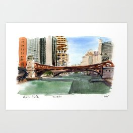 River Walk - Chicago Art Print