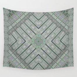 Refreshing Mint Green Tea Maze Wall Tapestry