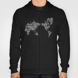 Passport Stamp Map Special Edition, Black and White Hoody