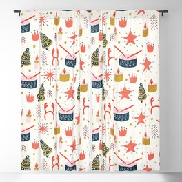 Christmas Card with Toys Blackout Curtain