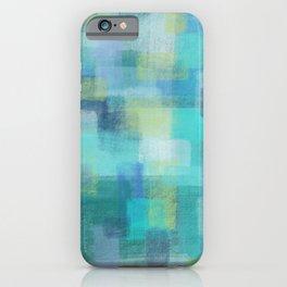 Blue Blocks by Jillian Amatt Designs iPhone Case