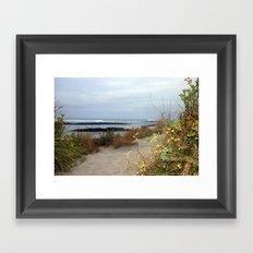Walk along the Beach Framed Art Print