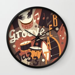 Percussion Jazz Wall Clock