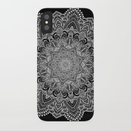 White lace Mandala iPhone Case