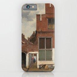 Johannes Vermeer - The little street iPhone Case