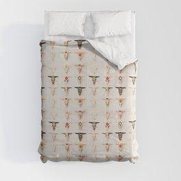 Bull Skulls - Mexican Folk Art Comforters