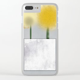 Two yellow flowers Clear iPhone Case