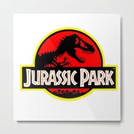 Vintage Style Jurassic Metal Print
