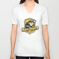 quidditch V-neck T-shirts featuring Hogwarts Quidditch Teams - Hufflepuff by Deadround
