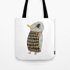 Baby Raven In Argyle Tote Bag