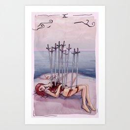 Ten Of Swords Art Print