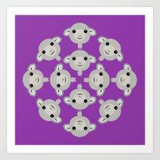 Sheep Circle - 4 Art Print