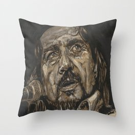Waylon Jennings Throw Pillow