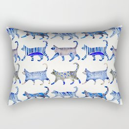 Cat Collection – Blue Palette Rectangular Pillow