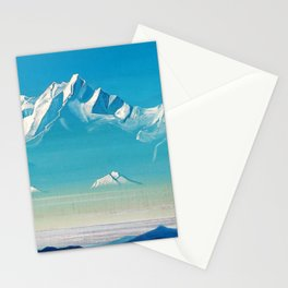 Nicholas Roerich - Mount Of Five Treasures - Digital Remastered Edition Stationery Cards