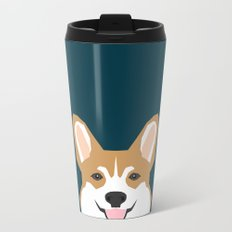 Teagan - Corgi Welsh Corgi gift phone case design for pet lovers and dog people Metal Travel Mug
