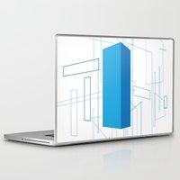 blueprint Laptop & iPad Skins featuring Blueprint #3 (blue) by iamerichiggins