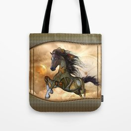 Steampunk, awesome steampunk horse Tote Bag