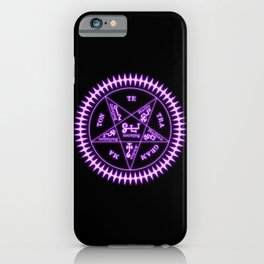 Sebastian Michaelis Sigil Light (black bg) iPhone Case