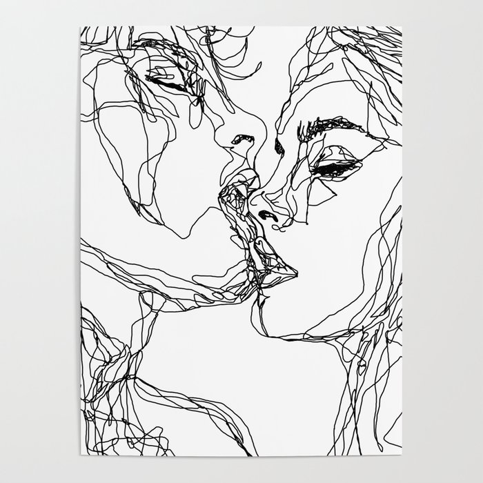 kiss more often (B & W) Poster