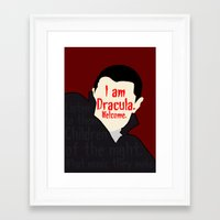 dracula Framed Art Prints featuring Dracula by Swell Dame