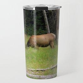 Elk in Yellowstone Travel Mug