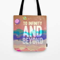 to infinity and beyond.. toy story.. buzz lightyear Tote Bag