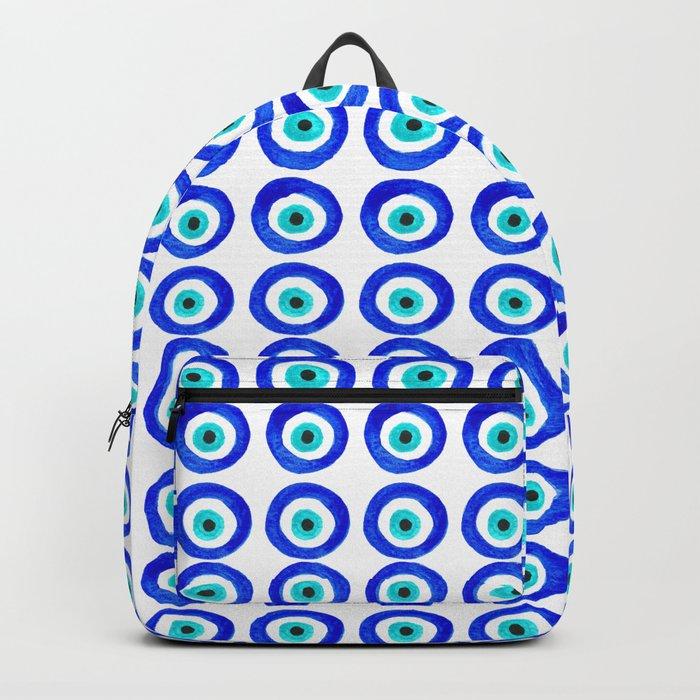 Evil Eye Amulet Talisman - on white Backpack