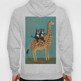 Cats on a Rocking Giraffe Hoody