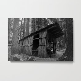 Creepy Little Shack Metal Print