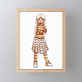 Mille-feuille Framed Mini Art Print