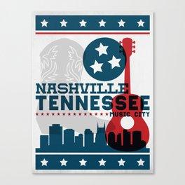 Nashville Tennessee Music City - Hatch Show Print Canvas Print