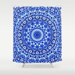 Blue Mandala Mehndi Style G403 Shower Curtain