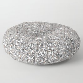 Circles Pattern -Tobiko #abstract Floor Pillow